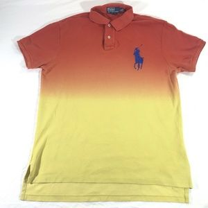 Polo Ralph Lauren Men Large Ombre Orange Yellow